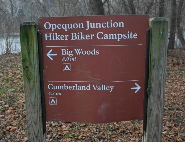 Campsite sign.