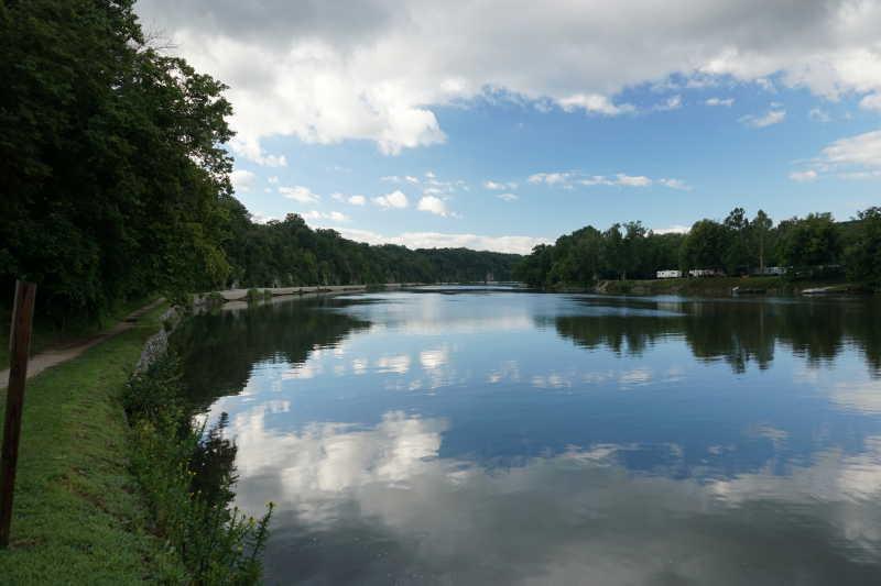 Sky mirror water